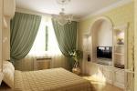 арка на стене в спальне