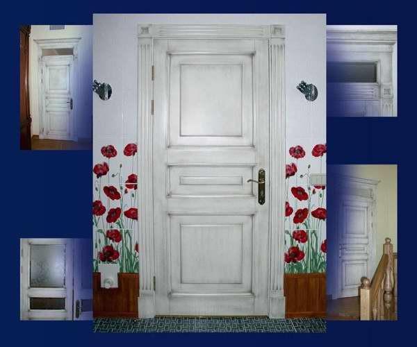 Декор двери своими руками