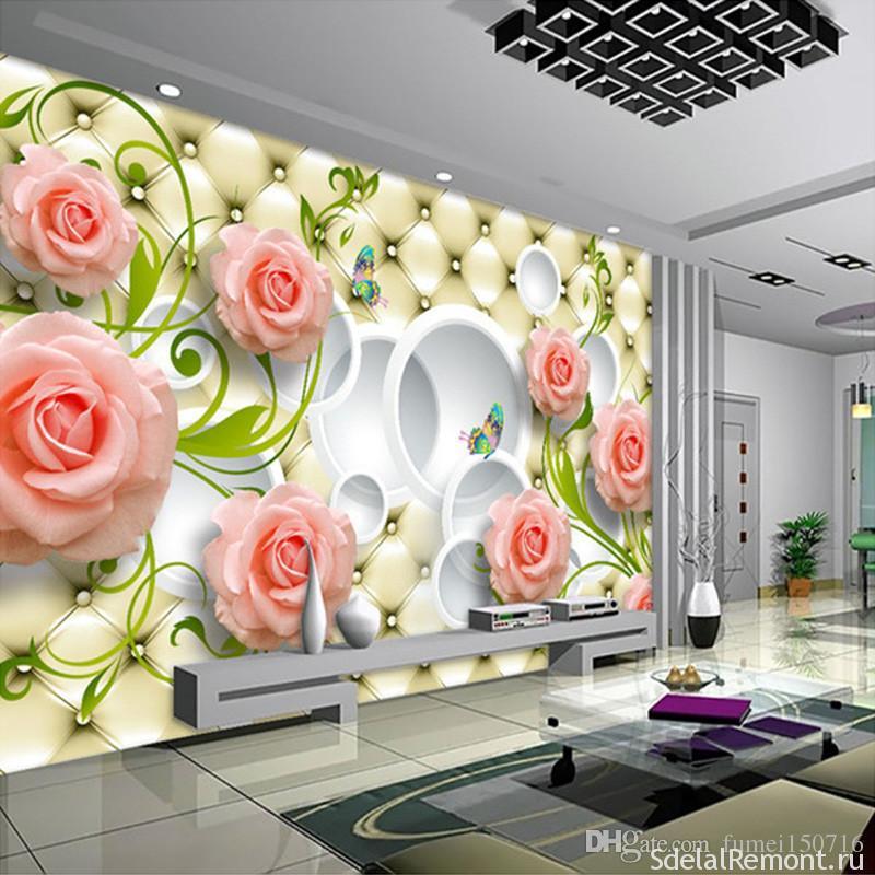 цветы 3д на стене