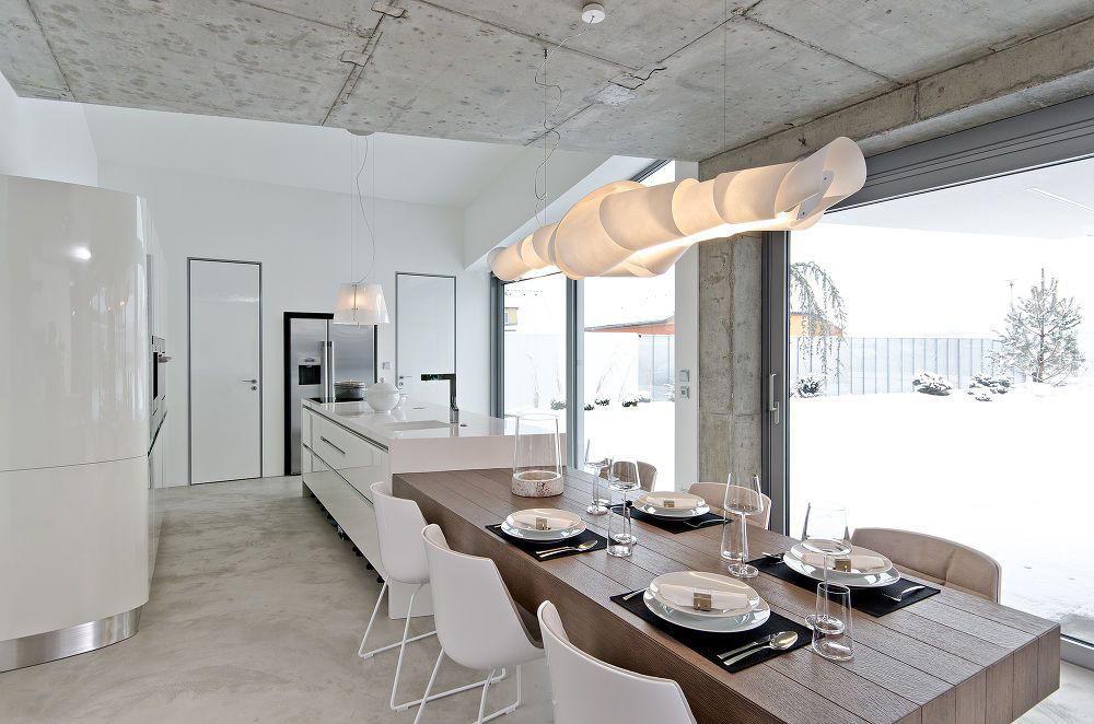 Фото 19 Бетонный потолок в интерьере: 60+ лаконичных идей для дизайна в стиле лофт, минимализм и хай-тек