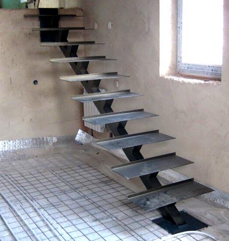 металлическая лестница на косоурах