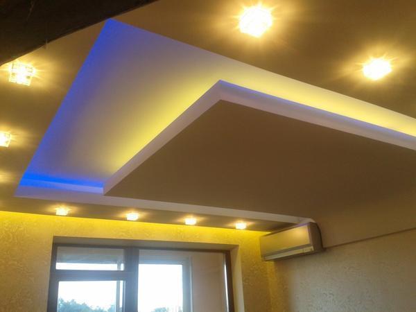 Светодиодная лента в натяжном потолке – красота внутри