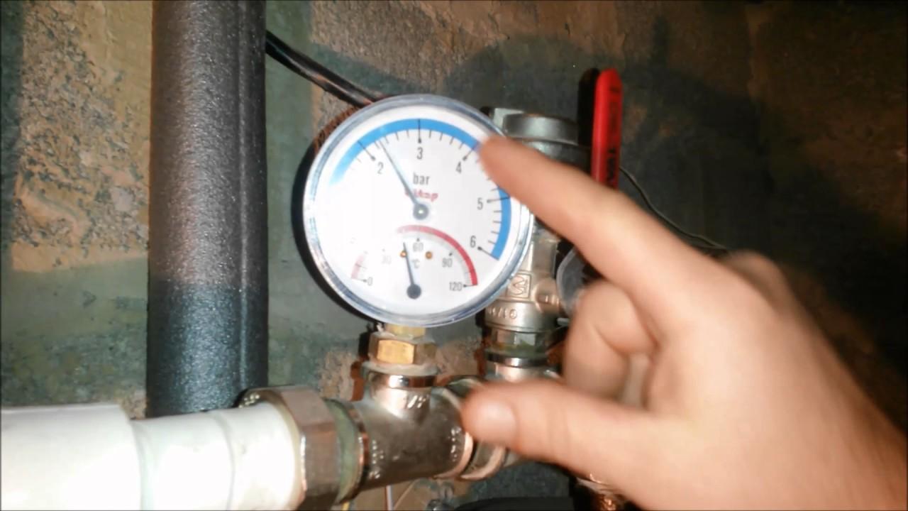 контроль давления в системе отопления