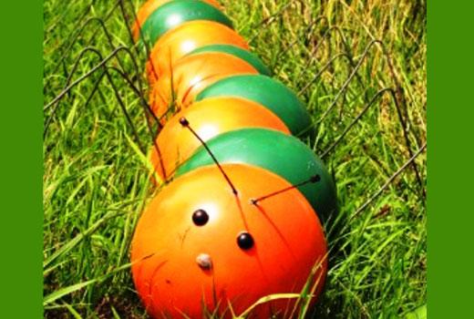 гусеница из мячиков