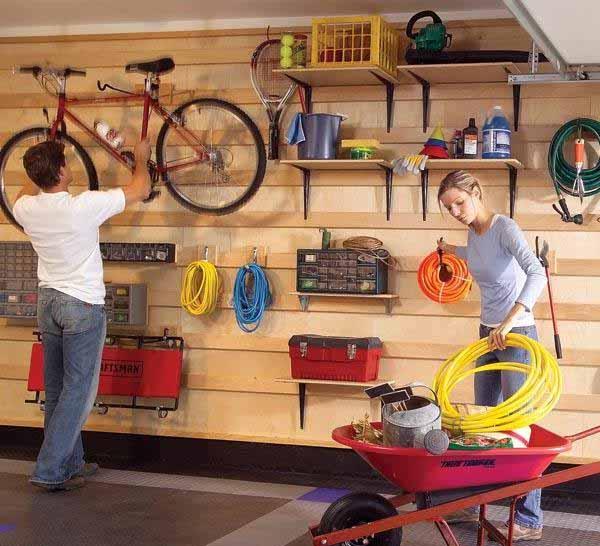 порядок в гараже хранение инструментов