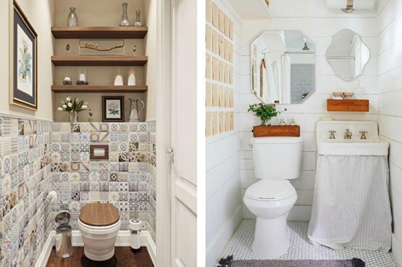 Маленький туалет в стиле прованс - Дизайн интерьера