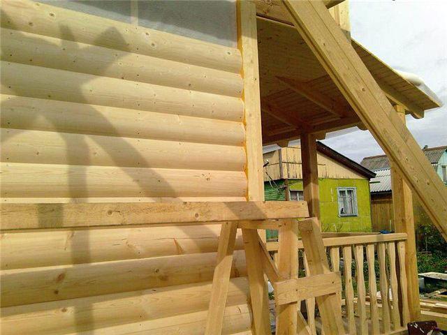 картинка Фото дома обшитый блок хаусом №1