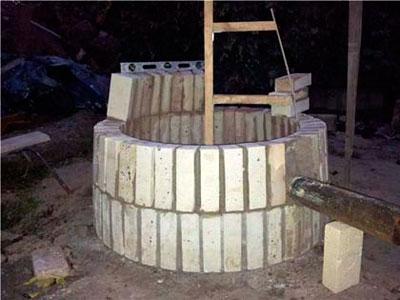 3-ий ряд строительства тандыра