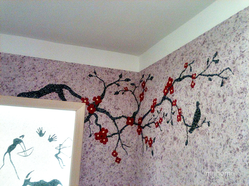 50 фото идей для оформления комнаты жидкими обоями: