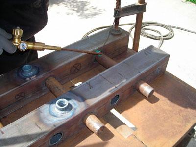 Производственный процесс создания коллектора отопления