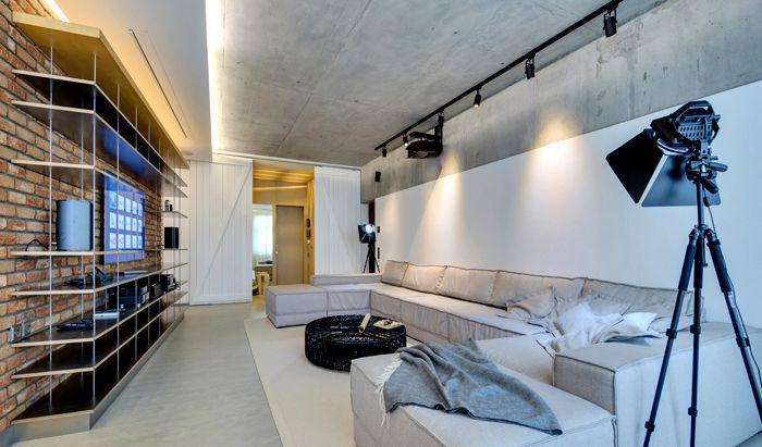 Фото 24 Бетонный потолок в интерьере: 60+ лаконичных идей для дизайна в стиле лофт, минимализм и хай-тек