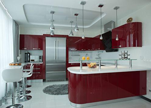 Red On White: Интерьер кухни, Сочи