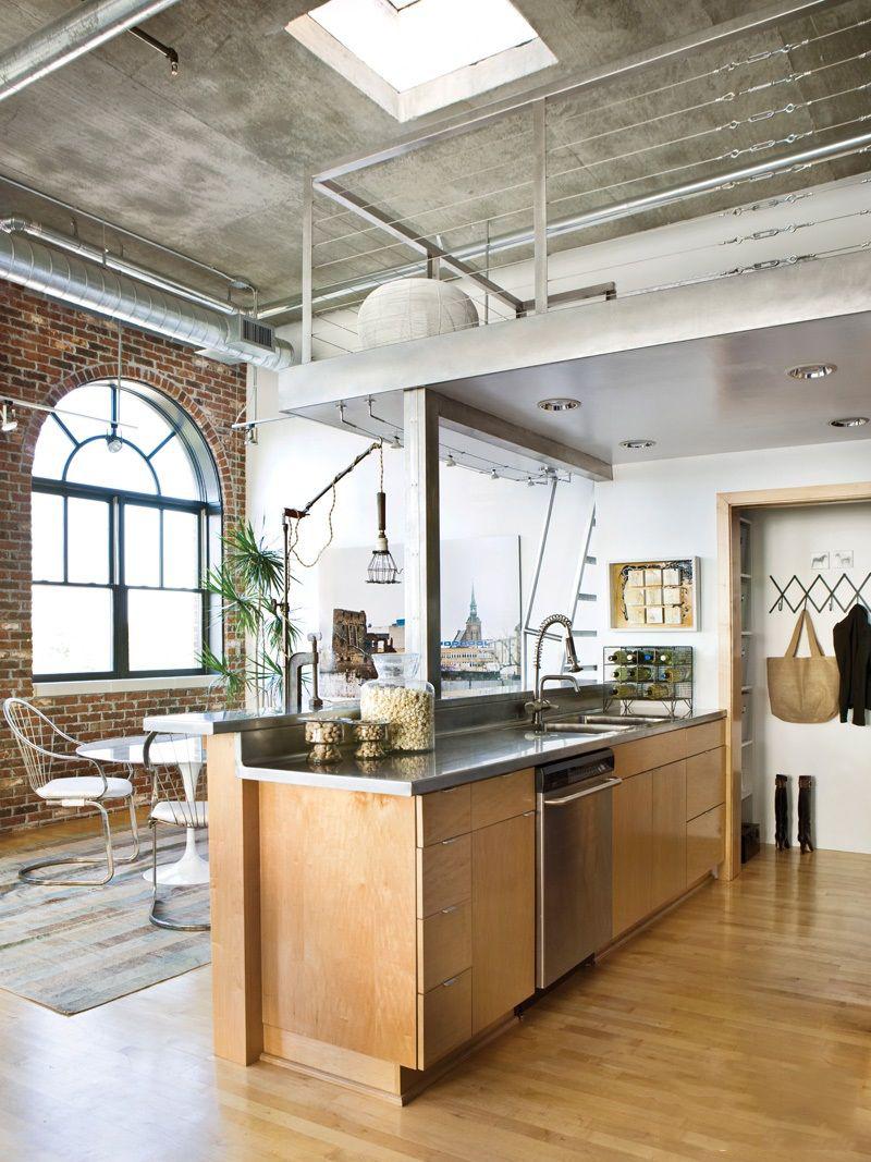 Фото 15 Бетонный потолок в интерьере: 60+ лаконичных идей для дизайна в стиле лофт, минимализм и хай-тек