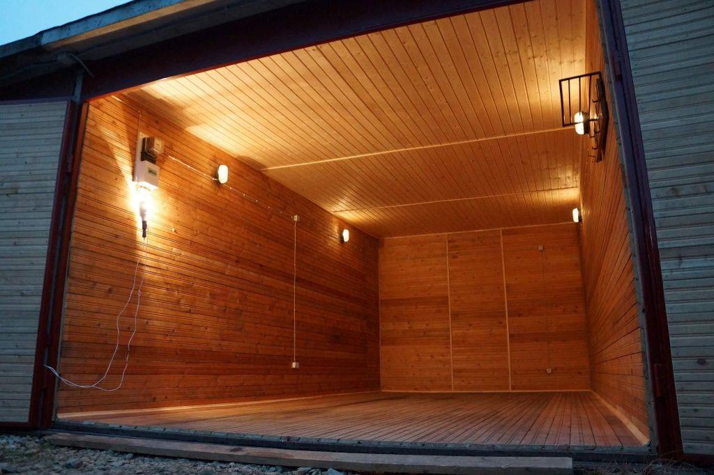 отделка гаража внутри