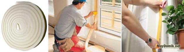 Утепление деревянных окон поролоновой лентой