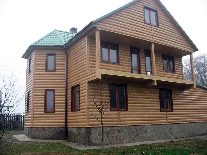 картинка Фото дома обшитый блок хаусом №8