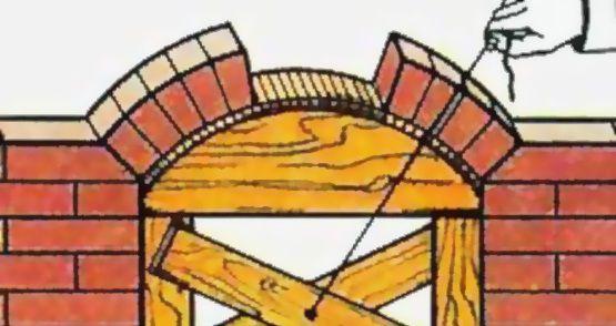 Устанавливаем кружоло в топку для создания кирпичной арки