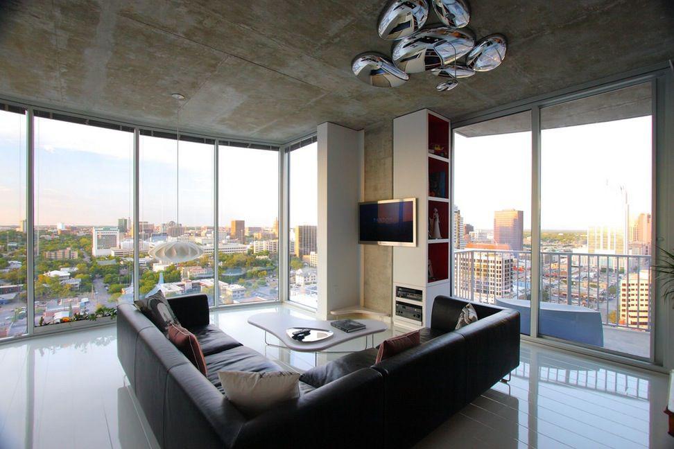 Фото 12 Бетонный потолок в интерьере: 60+ лаконичных идей для дизайна в стиле лофт, минимализм и хай-тек
