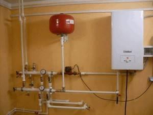 Вид обвязки газового отопительного котла дома