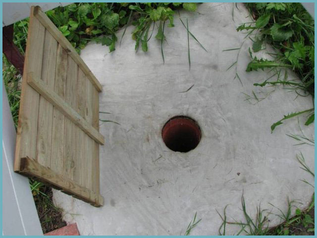 сточная яма для летнего душа