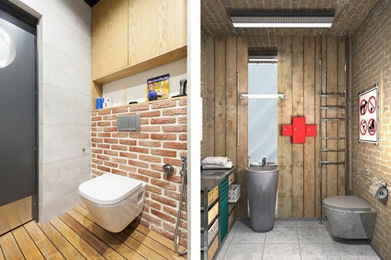Маленький туалет в стиле лофт - Дизайн интерьера