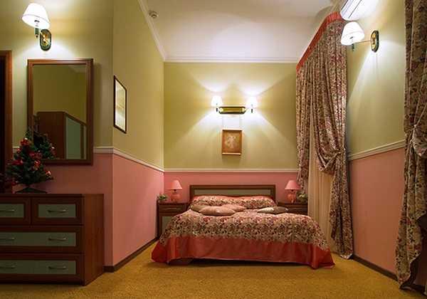Покраска комнаты в два цвета: горизонтальное разделение