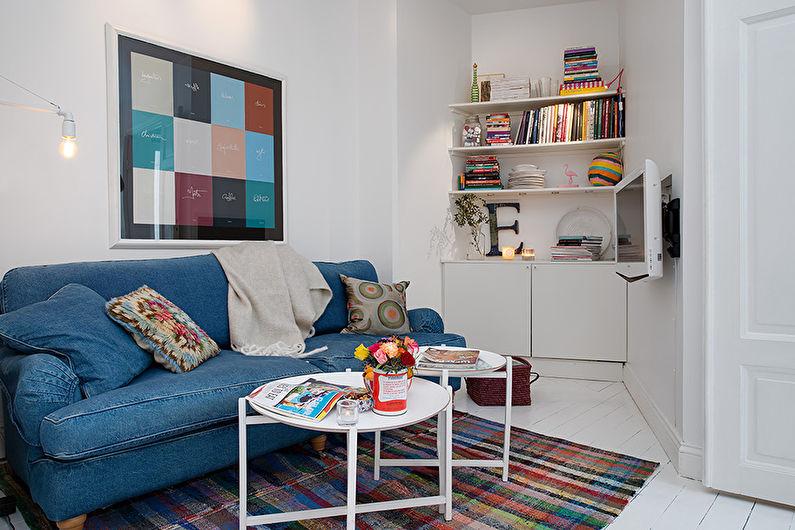 Дизайн маленькой гостиной (60 фото)