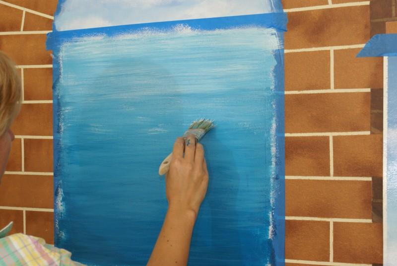 Рисуем в окнах пейзаж