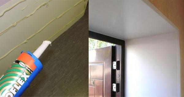 Наиболее простой и быстрый способ установки ПВХ панелей на откосы - это крепление на клей