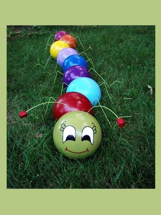 гесеница из шариков