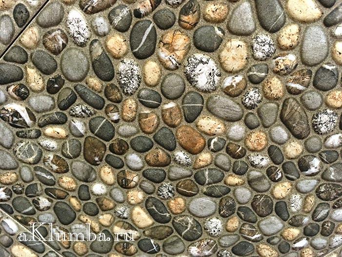 Дорожка из морских камушек