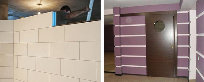 Для сооружения ненесущих стен часто используют блоки пазогребневые