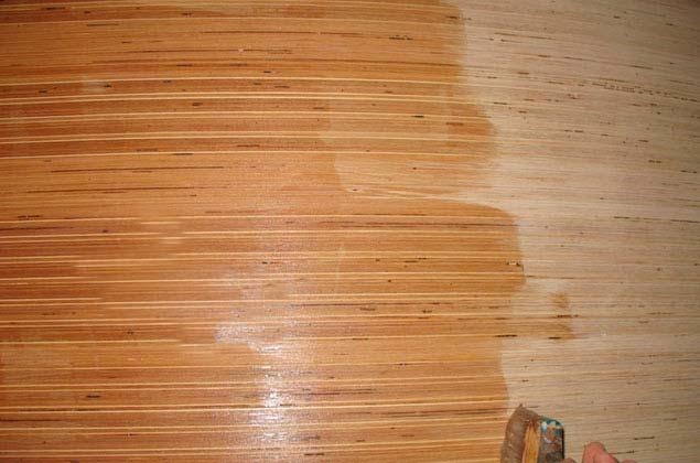 Покрытие фанеры на полу олифой