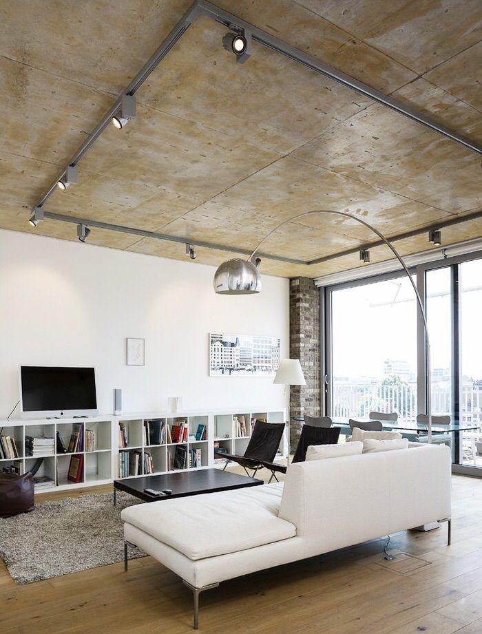 Фото 18 Бетонный потолок в интерьере: 60+ лаконичных идей для дизайна в стиле лофт, минимализм и хай-тек