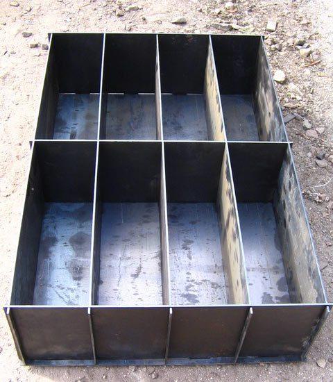 На фото – форма для изготовления блоков.