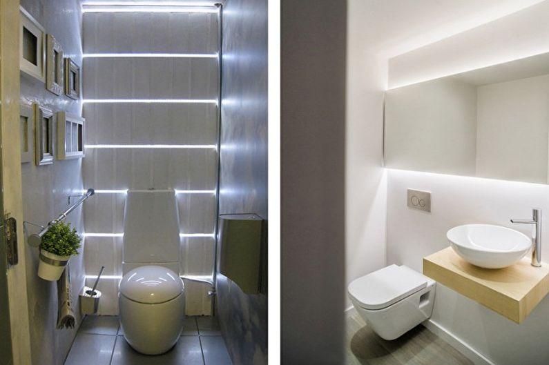 Маленький туалет в стиле минимализм - Дизайн интерьера