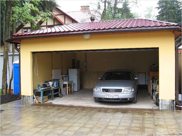 Оштукатуренный гараж