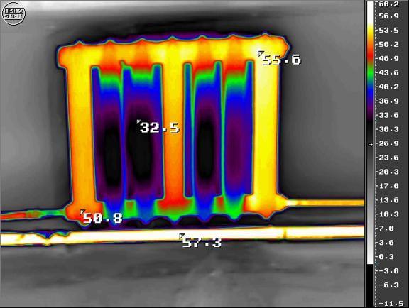 Тепловизор радиатора отопления
