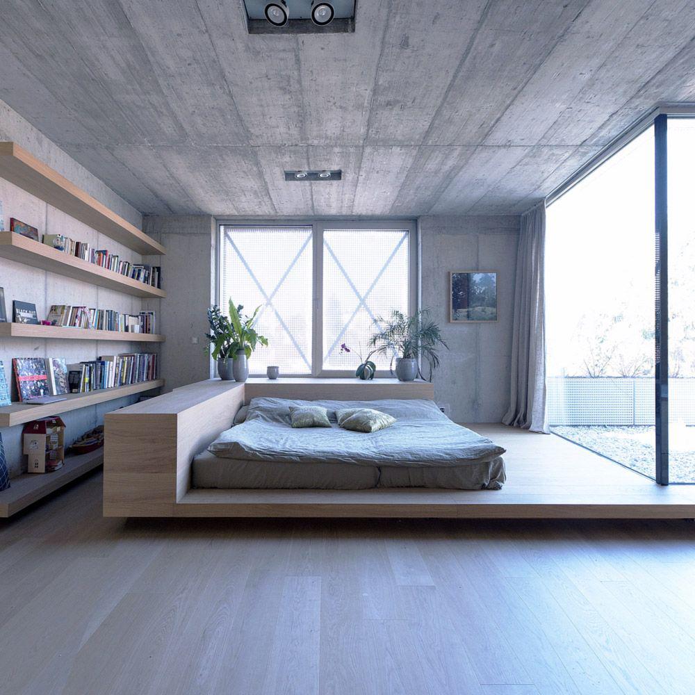 Фото 4 Бетонный потолок в интерьере: 60+ лаконичных идей для дизайна в стиле лофт, минимализм и хай-тек