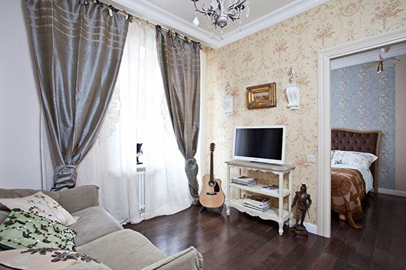 Дизайн маленькой гостиной в стиле прованс