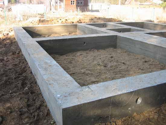 Ленточный фундамент для дома из пенобетонных блоков