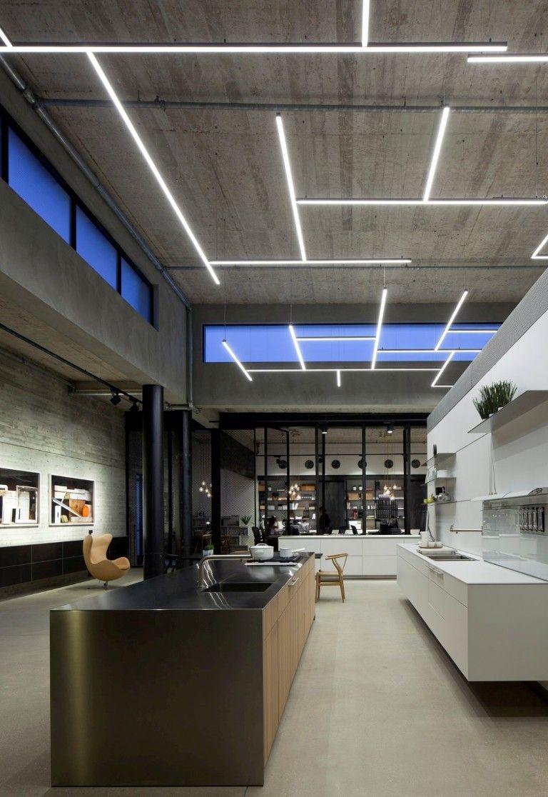 Фото 13 Бетонный потолок в интерьере: 60+ лаконичных идей для дизайна в стиле лофт, минимализм и хай-тек