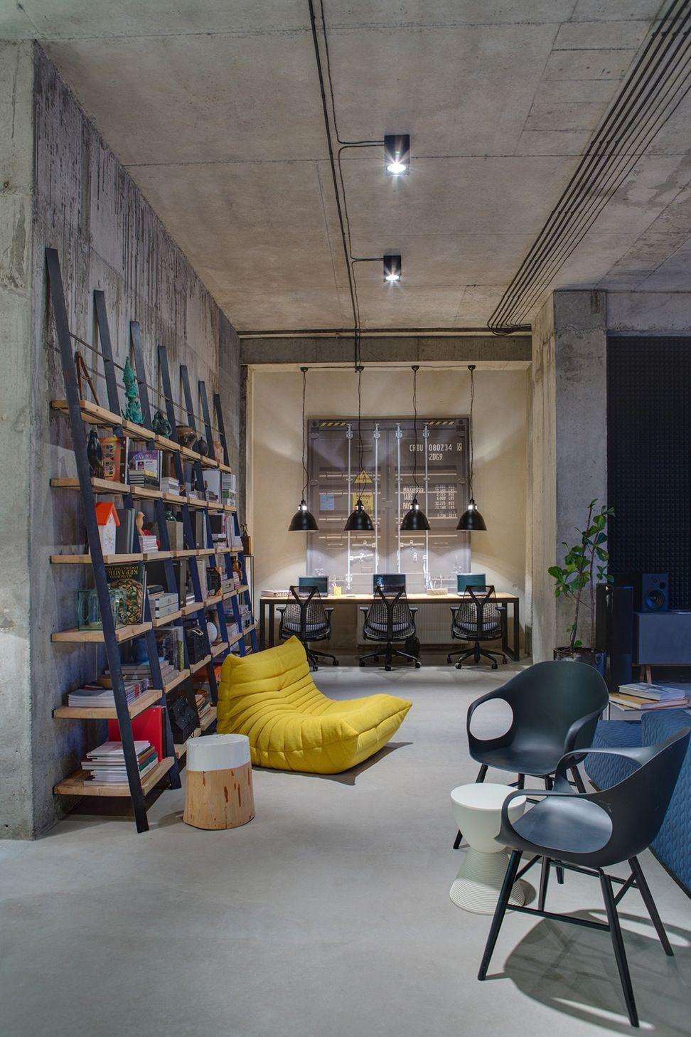 Фото 17 Бетонный потолок в интерьере: 60+ лаконичных идей для дизайна в стиле лофт, минимализм и хай-тек