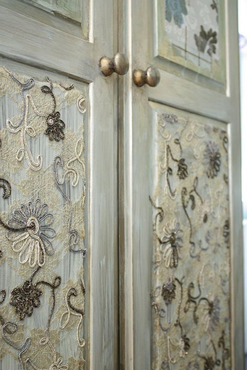 Декор старых дверей своими руками - Ткань