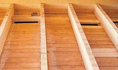 Перекрытие по деревянным балкам