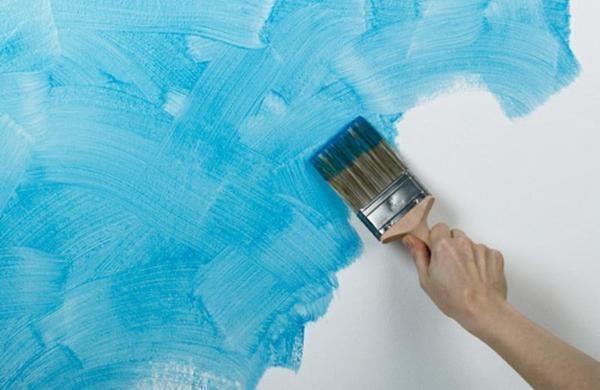 Покраска стен вместо обоев при помощи декоративной краски