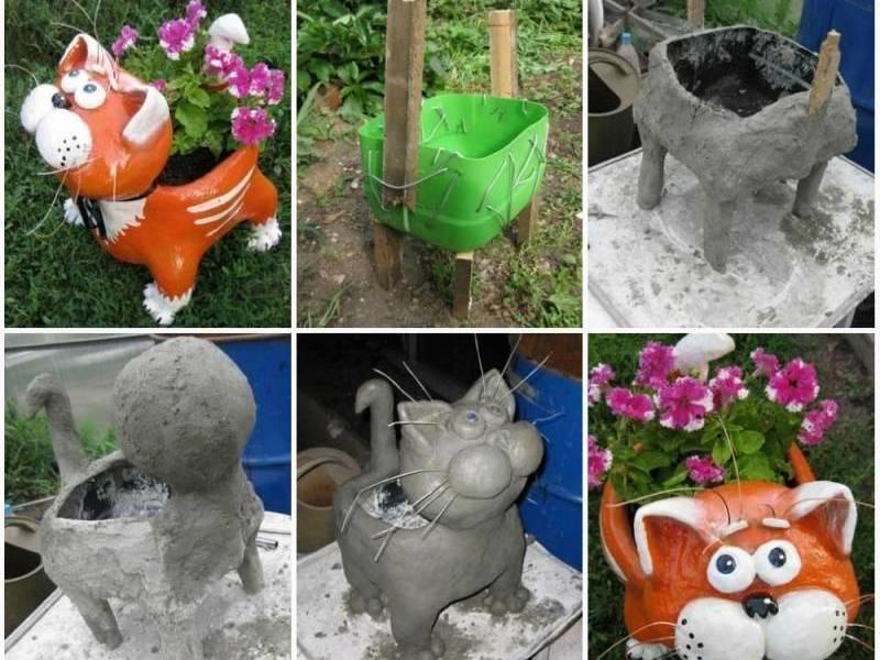 Садовые фигуры своими руками кот фото