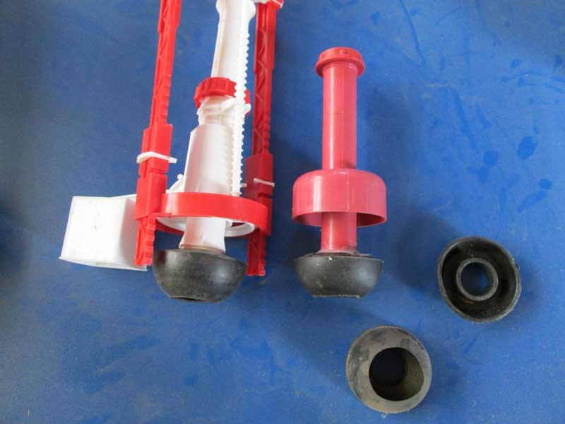 Вариант сливного клапана с эластичной частью