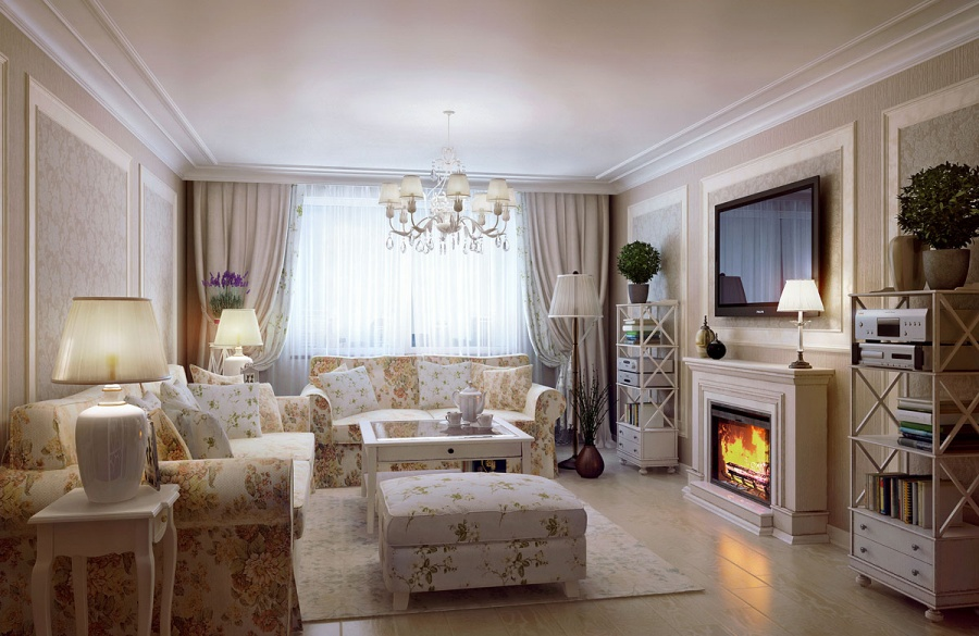 Интерьер светлой гостиной