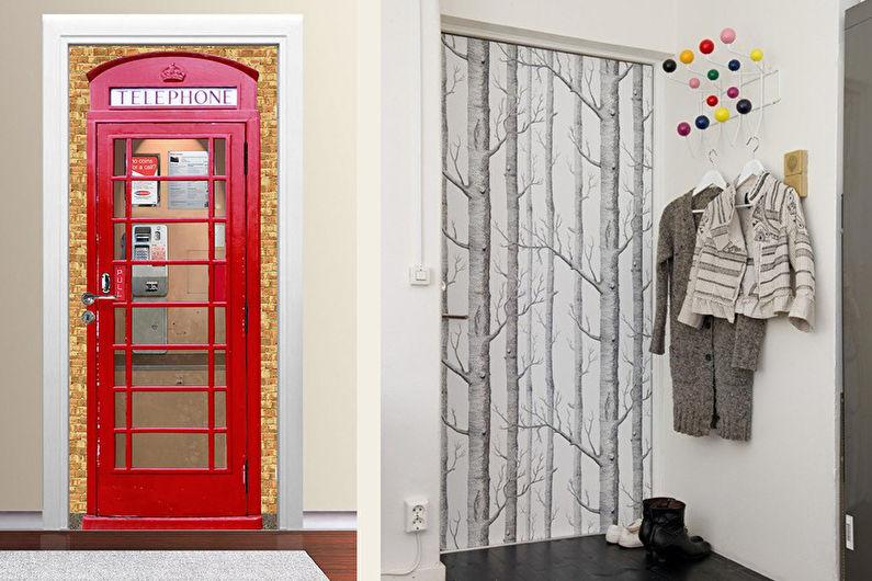 Декор старых дверей своими руками - Обои